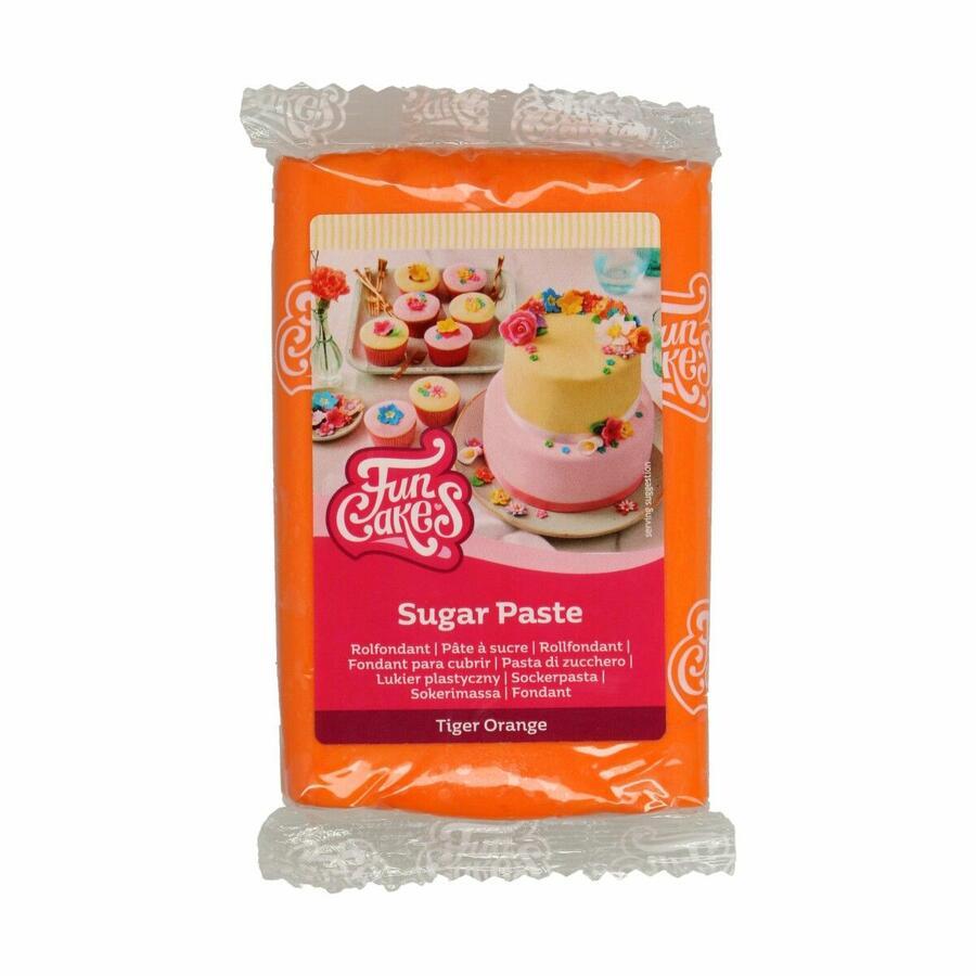 Pasta di zucchero FunCakes arancione 250 gr