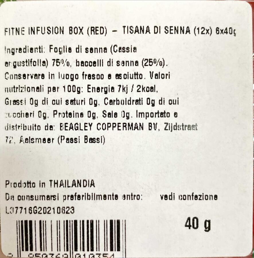 FITNE HERBAL INFUSION (ROSSO) 40GR