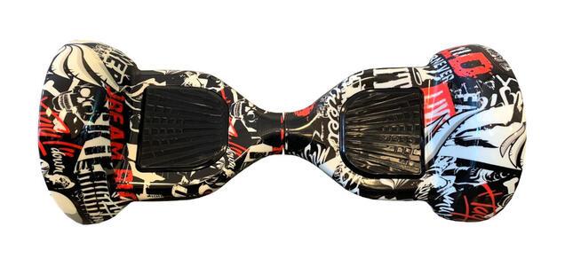 """Hoverboard con ruote da 10"""" pollici a camera d'aria - Sabway S10 - Black & White"""