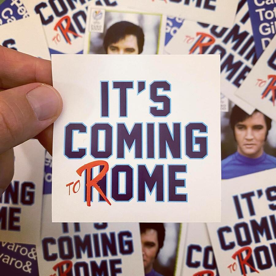 Adesivo It's Coming to Rome