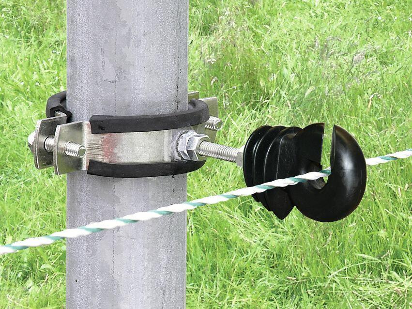 Cravatta di fissaggio isolatori con filetto metrico a pali tondi