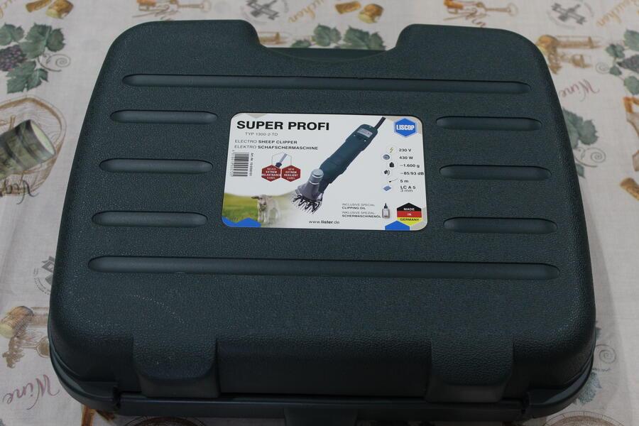 Tosatrice per ovini Liscop SUPER profi 3000 (1300-2-TD) con pettine e coltello LCA5