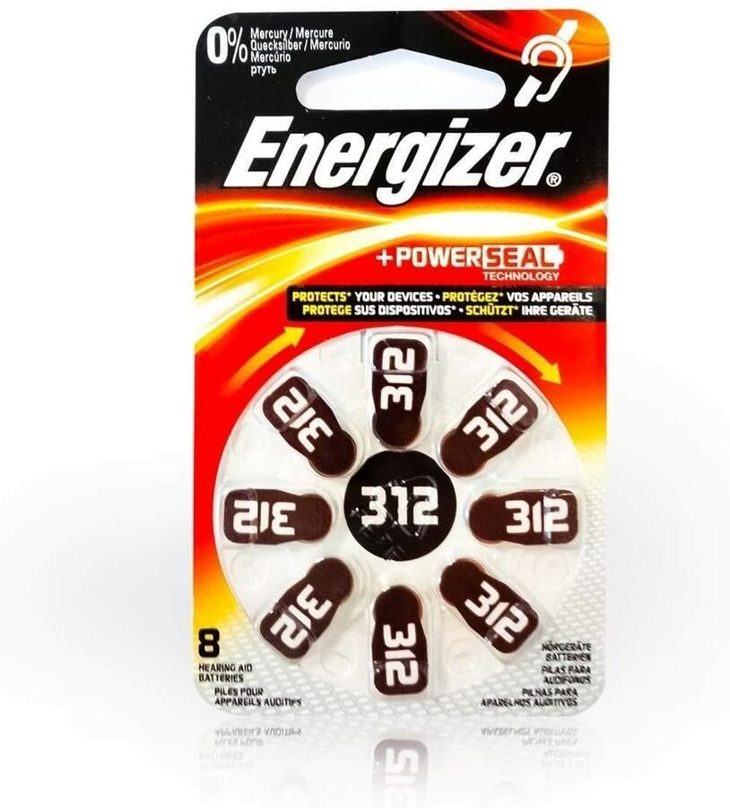 ENERGIZER BATTERIA ZINC AIR 312 BL 8 SC 6