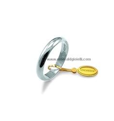 Fede Nuziale UnoAerre Oro bianco 18 kt 3 gr
