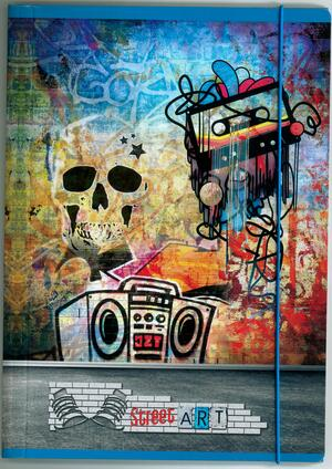 CARTELLINA 3 LEMBI CON ELASTICO LINEA STEET ART / WORLD LANDSCAPE