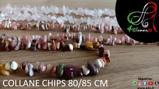 CHIPS - PARURE COLLANA 80/85 CM E BRACCIALE 17CM