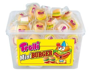 1 Confezione Mini Hamburger Trolli Gr.800 Caramelle Gommose