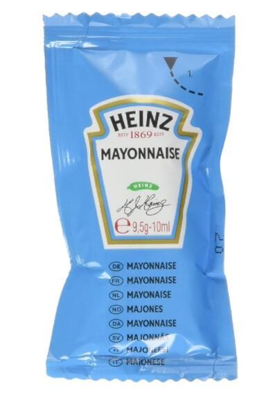 Heinz Maionese Sachet - Confezione da 200 Pezzi