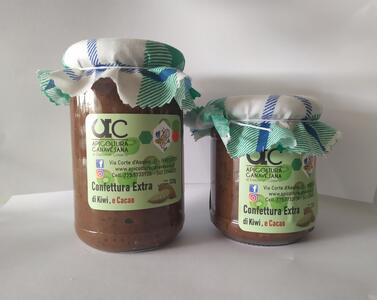 Confettura Extra di Kiwi e Cacao Disponibile nei formati 220-320 gr