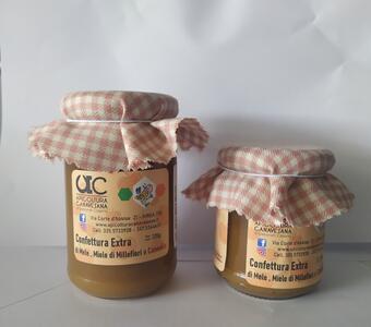 Confettura Extra di Mele, Miele Millefiori e Cannella Disponibile nei formati 220-320 gr
