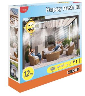 Happy Fresh Kit Irrigazione 12 mt Senza Centralina Claber