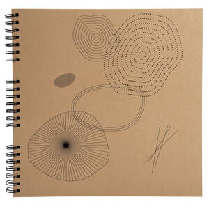 Album foto spiralato per 360 foto - 60 pagine nere - ETERNECO - 32x32cm - Kraft - Kraft figure geometriche