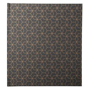 Album libro per 60 foto - 30 pagine nere - ARTY - 25x25cm - Nero