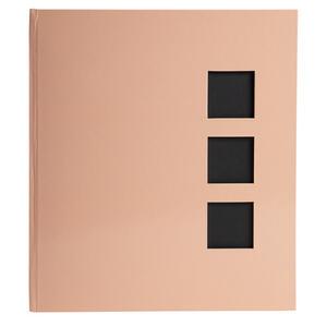 Album libro per 300 foto - 60 pagine nere - AQUAREL - 29x32cm - Corallo