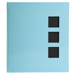 Album libro per 300 foto - 60 pagine nere - AQUAREL - 29x32cm - Blu pastello