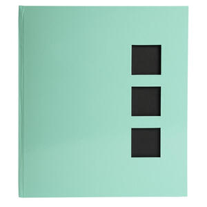 Album libro per 300 foto - 60 pagine nere - AQUAREL - 29x32cm - Verde pastello