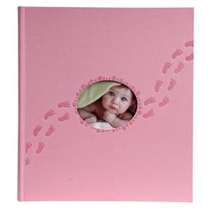 Album libro per 300 foto - 60 pagine bianche - PILOO - 29x32cm - Rosa