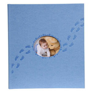 Album libro per 300 foto - 60 pagine bianche - PILOO - 29x32cm - Blu