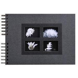 Album foto spiralato per 100 foto - 50 pagine nere - PASSION - 32x22cm - Nero