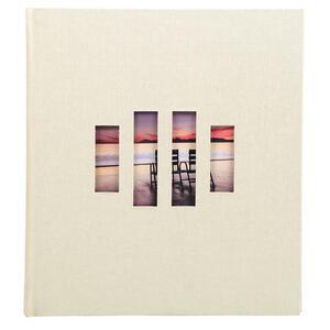 Album libro per 300 foto - 60 pagine bianche - ZEN - 29x32cm - Avorio