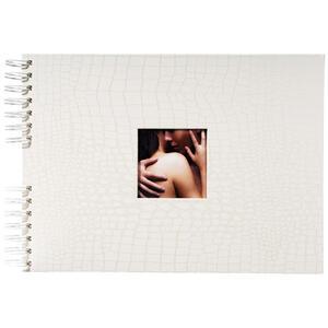 Album foto a spirale 50 pagine bianche Celia 32x22 cm - Madreperla