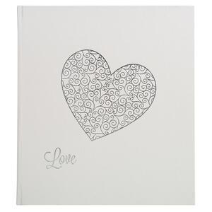 Album foto libro 60 pagine bianche Harmony 29x32 cm - Bianco lustrino