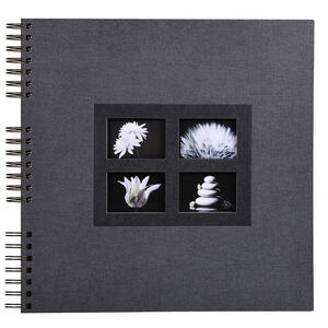 Album foto spiralato PASSION per 360 foto - 60 pagine nere - F.to 32x32cm - Nero
