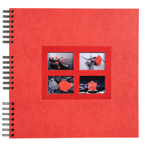 Album foto spiralato PASSION per 360 foto - 60 pagine nere - F.to 32x32cm - Rosso