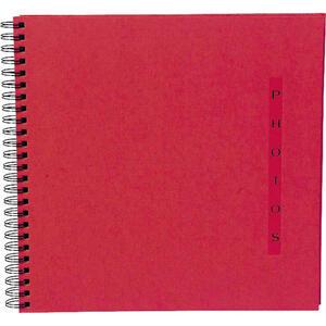 Album foto spiralato per 360 foto - 60 pagine nere - DESIGN - 32x32cm - Rosso