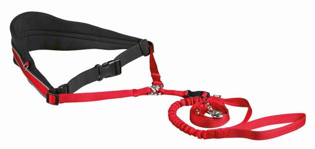 Trixie Cintura in Vita Con Guinzaglio Per Cani Taglia Media Grande Rosso