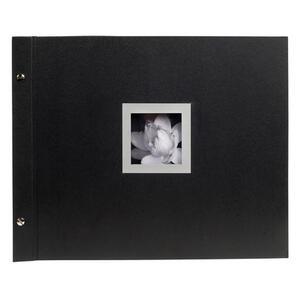 Album foto con vite per 160 foto - 40 pagine nere - CEREMONY - 37x29cm - Nero