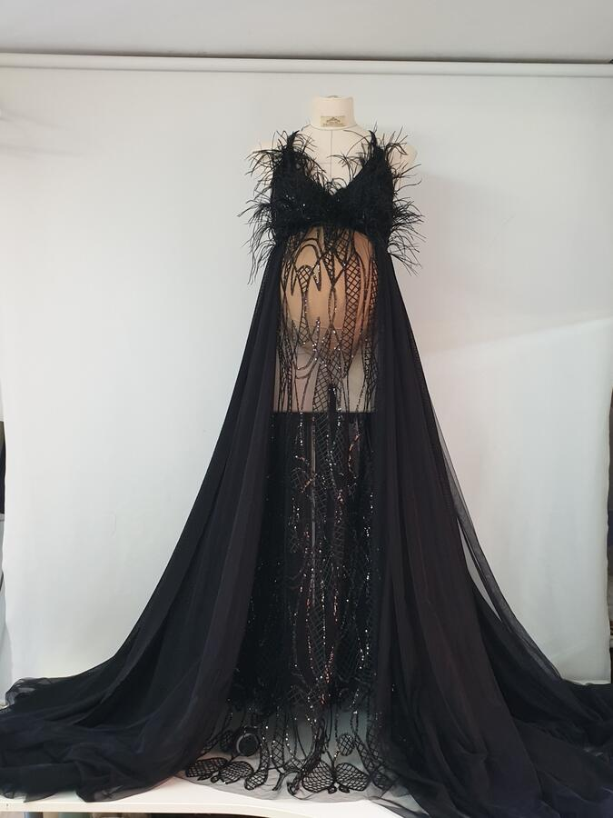 LIVIA LUXURY MATERNITY SWAN DRESS
