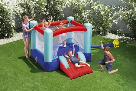 Castello Gonfiabile con Scivolo Bestway  53310 Multicolore Castello Gonfiabile Spring n' Slide, 3-8 Anni
