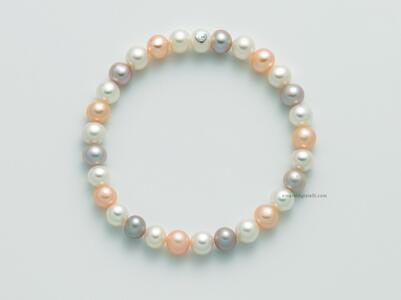 pbr2970 Bracciale Miluna di perle Multicolor