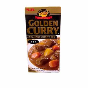 S&B GOLDEN CURRY SAUCE MIX HOT 92GR