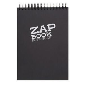 Blocco da schizzo ZAP BOOK spiralato A4 da 160 fogli 80 gr nero