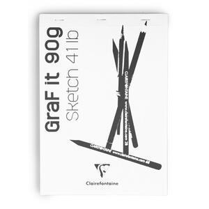 Album da disegno Blocco GRAF IT collato A4 da 80 fogli 90 gr bianco