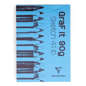 Album da disegno Blocco GRAF IT collato A7 da 80 fogli 90 gr bianco