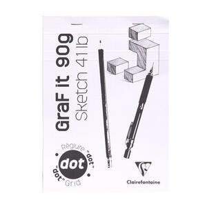 Album da disegno Blocco GRAF IT collato A5 da 80 fogli 90 gr puntinati