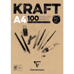 Album carta KRAFT collato A4 da 100 fogli 90 gr