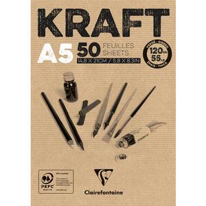 Blocco carta KRAFT AVANA A5 da 50 fogli 120 gr