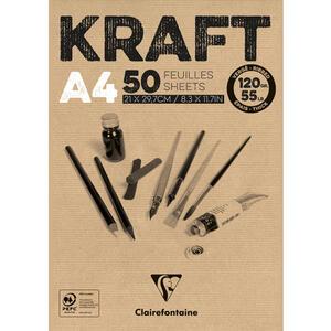 Blocco carta KRAFT AVANA A4 da 50 fogli 120 gr