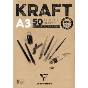 Blocco carta KRAFT AVANA A3 da 50 fogli 120 gr