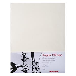 Confezione carta cinese - 25 fogli formato 26,5x33