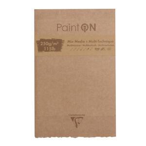 Blocco da disegno PAINT ON 13,9x21,5 da 50 fogli, 250 gr,  1 bordo sfrangiato