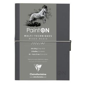 Quaderno  PAINT ON cucito, con elastico A5 32 fogli  g, copertina grigia