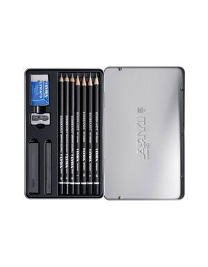 Confezione in metallo matite REMBRANDT GRAPHITE - SET 7 matite e accessori
