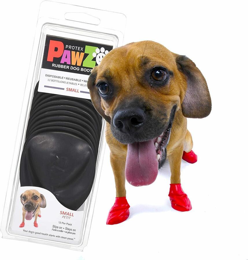 Pawz Nero S Scarpe Per Cani Small Protezione Polpastrelli Zampe Scarpette