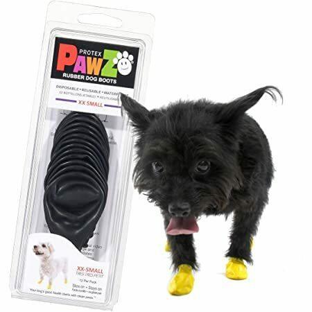 Pawz Nero XXS Scarpe Per Cani Small Protezione Polpastrelli Zampe Scarpette