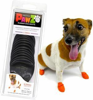 Pawz Nero XS Scarpe Per Cani Protezione Polpastrelli Zampe Scarpette
